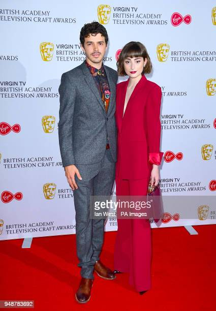 Harry Richardson and Ellise Chappell attending the Virgin British Academy Television and Craft Nominations Party held at Mondrian London at Sea...