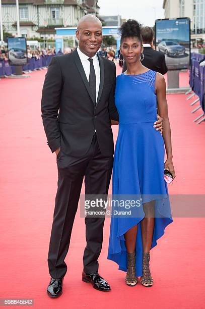 Harry Roselmack and Chrislaine Roselmack arrive at the opening ceremony of the 42nd Deauville American Film Festival on September 2 2016 in Deauville...