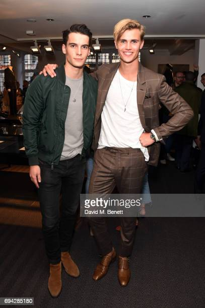 Harry Rowley and Sam Harwood attend the dunhill London presentation during the London Fashion Week Men's June 2017 collections on June 9 2017 in...
