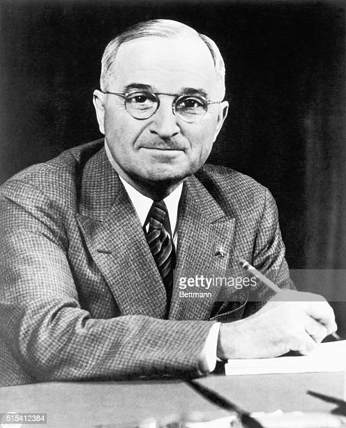 Harry S Truman 33rd President of the US Photograph ca 1950s