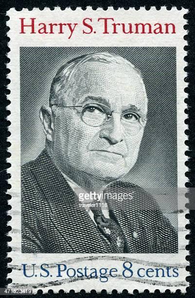 harry s. truman stamp - presidente dos estados unidos - fotografias e filmes do acervo