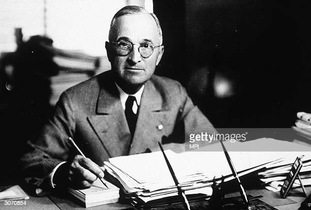 Harry S Truman the 33rd President of the United States After succeeding Franklin D Roosevelt to power during the last months of World War II he who...