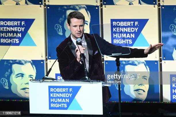 Harry SantaOlalla speaks onstage during the Robert F Kennedy Human Rights Hosts 2019 Ripple Of Hope Gala Auction In NYC on December 12 2019 in New...