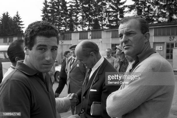 Harry Schell Alfonso de Portago Louis Chiron Grand Prix of Germany Nurburgring 05 August 1956 Alfonso de Portago with Harry Schell with Louis Chiron...