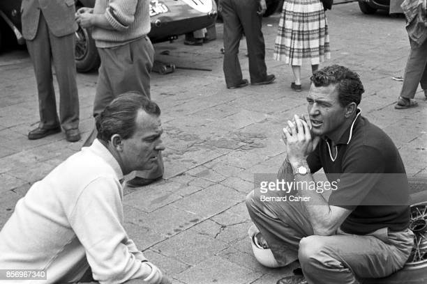 Harry Schell, Carroll Shelby, BRM P25, Grand Prix of Germany, Nurburgring, 03 August 1958.