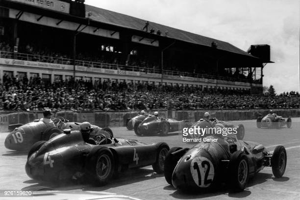 Harry Schell Luigi Musso Horace Gould Maserati 250F Ferrari D50 Grand Prix of Germany Nurburgring 05 August 1956