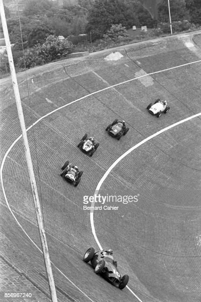 Harry Schell Maurice Trintignant Bruce McLaren Jo Bonnier Hans Herrmann BRM P25 CooperClimax T51 Grand Prix of Germany AVUS 02 August 1959 Harry...