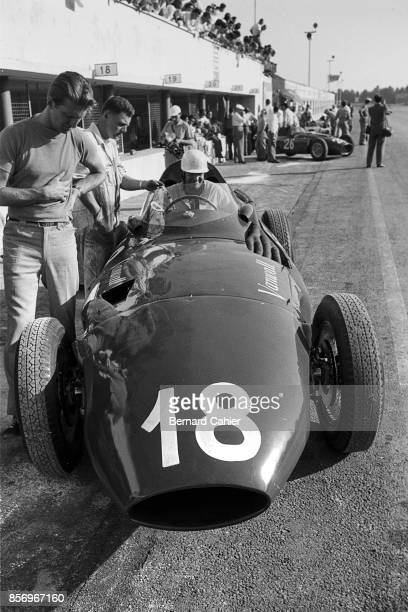 Harry Schell Wolfgang von Trips Vanwall VW 2 Grand Prix of Italy Autodromo Nazionale Monza 02 September 1956