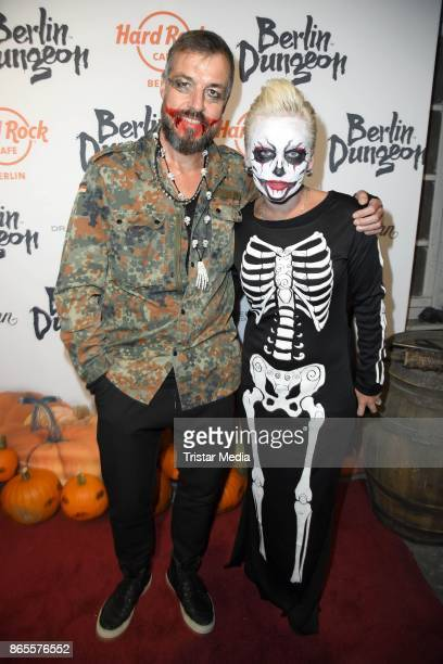 Harry Seedorf and Jana Windolph during the Halloween party by Natascha Ochsenknecht at Berlin Dungeon on October 23 2017 in Berlin Germany