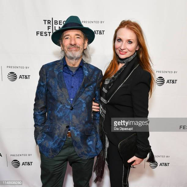 Harry Shearer and Judith Owen attend the This Is Spinal Tap 35th Anniversary during the 2019 Tribeca Film Festival at the Beacon Theatre on April 27...