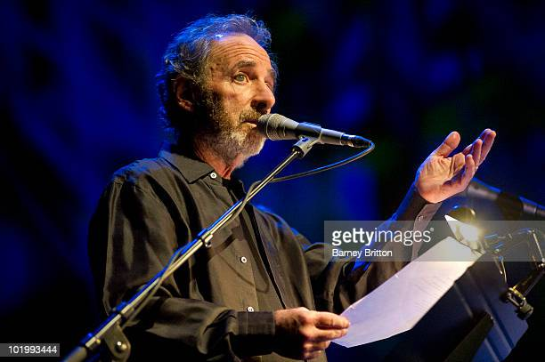 Harry Shearer performs on stage in Cabaret Of Souls as part of the Meltdown Festival at the Royal Festival Hall on June 11 2010 in London England