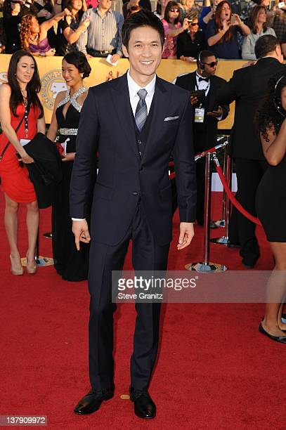 Harry Shum Jr arrives at the 18th Annual Screen Actors Guild Awards held at The Shrine Auditorium on January 29 2012 in Los Angeles California