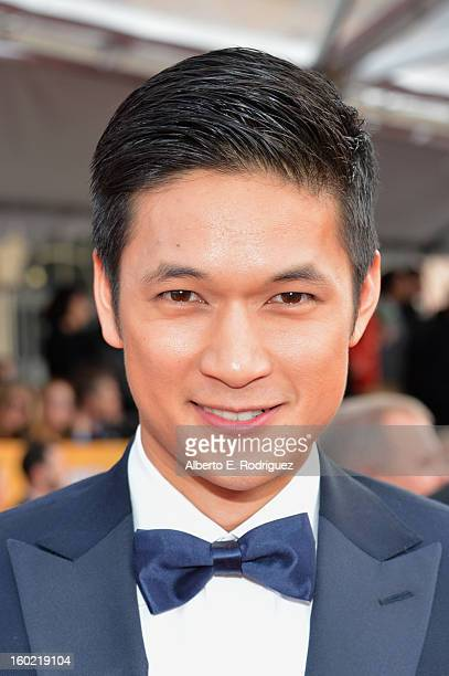 Harry Shum Jr arrives at the 19th Annual Screen Actors Guild Awards held at The Shrine Auditorium on January 27 2013 in Los Angeles California