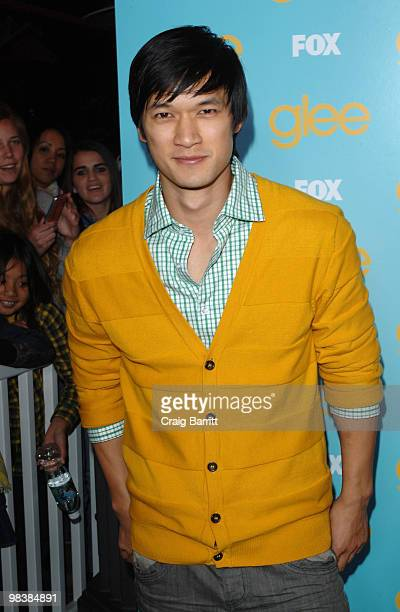 Harry Shum Jr arrives at the 'Glee' spring premiere episode outdoor screening at The Grove on April 10 2010 in Los Angeles California