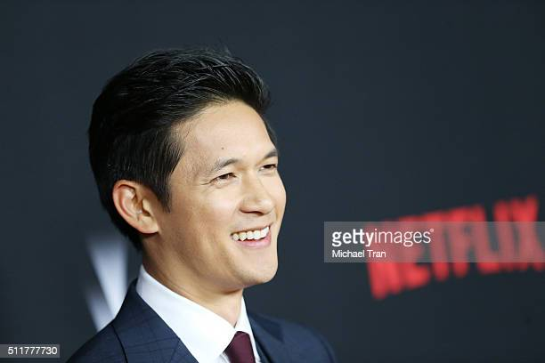 Harry Shum Jr arrives at the premiere of Netflix's Crouching Tiger Hidden Dragon Sword Of Destiny held at AMC Universal City Walk on February 22 2016...