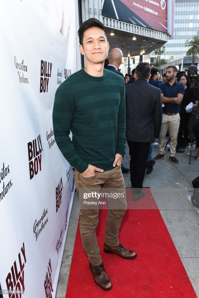 Harry Shum Jr. attends 'Billy Boy' Los Angeles Premiere - Red Carpet at Laemmle Music Hall on June 12, 2018 in Beverly Hills, California.