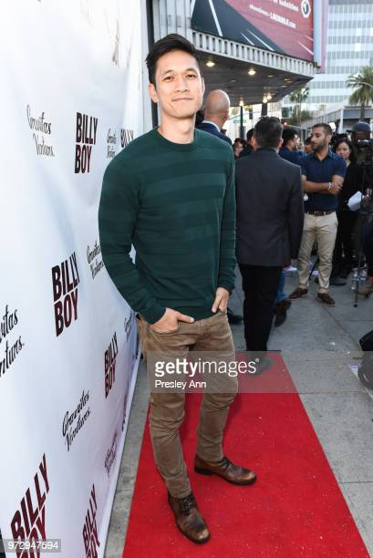 Harry Shum Jr attends Billy Boy Los Angeles Premiere Red Carpet at Laemmle Music Hall on June 12 2018 in Beverly Hills California