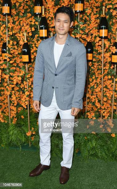 Harry Shum Jr attends the 9th Annual Veuve Clicquot Polo Classic Los Angeles at Will Rogers State Historic Park on October 6 2018 in Pacific...