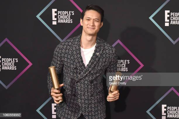 Harry Shum Jr attends the E People's Choice Awards Press Room at Barker Hangar on November 11 2018 in Santa Monica California