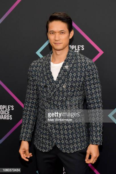 Harry Shum Jr attends the People's Choice Awards 2018 at Barker Hangar on November 11 2018 in Santa Monica California