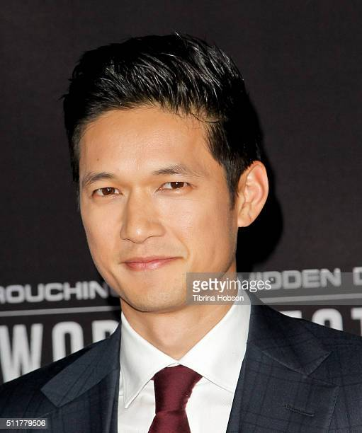 Harry Shum Jr attends the Premiere of Netflix's 'Crouching Tiger Hidden Dragon Sword Of Destiny' at AMC Universal City Walk on February 22 2016 in...