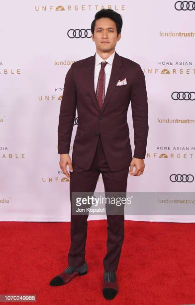 Harry Shum Jr attends the Unforgettable Gala 2018 at The Beverly Hilton Hotel on December 8 2018 in Beverly Hills California