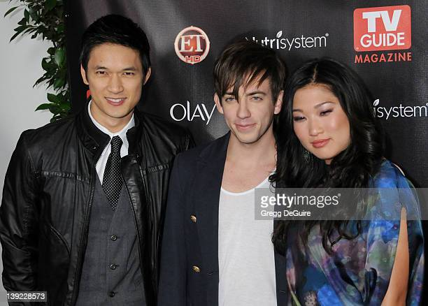 Harry Shum Jr., Kevin McHale and Jenna Ushkowitz arrive at TV Guide Magazine's 2010 Hot List Party at Drai's at the W Hollywood Hotel on November 8,...