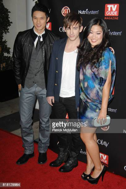 Harry Shum Jr., Kevin McHale and Jenna Ushkowitz attend TV GUIDE MAGAZINE'S 2010 HOT LIST at Drai's on November 8th, 2010 in West Hollywood,...