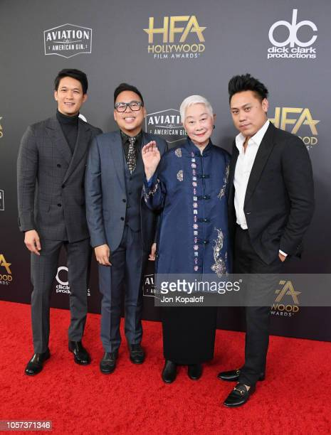 Harry Shum Jr Nico Santos Lisa Lu and Jon M Chu attend the 22nd Annual Hollywood Film Awards at The Beverly Hilton Hotel on November 4 2018 in...