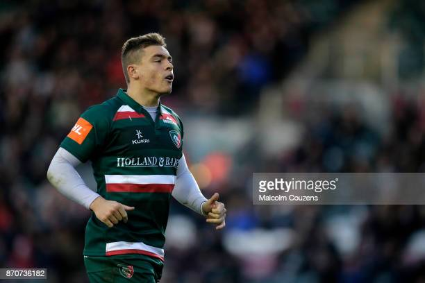 Harry Simmons of Leicester Tigers during the AngloWelsh Cup tie between Leicester Tigers and Gloucester Rugby at Welford Road on November 4 2017 in...