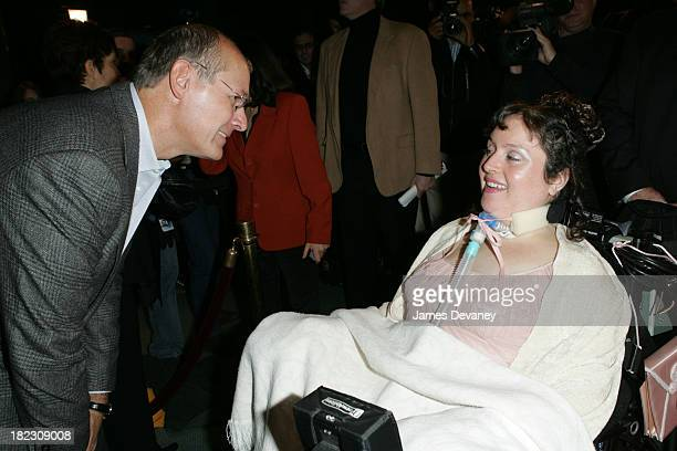 Harry Smith and Brooke Ellison during The Brooke Ellison Story New York Premiere Inside at Lincoln Center Alice Tully Hall in New York City New York...