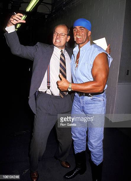 Harry Smith and Hulk Hogan during Ivana Trump Promotes Book on 'The Joan Rivers Show' at CBS Broadcast Center in New York City New York United States