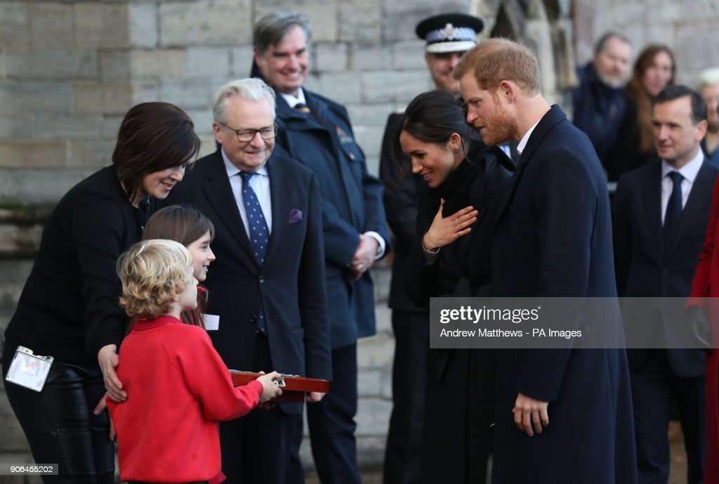 Prince Harry visit to Cardiff Castle : News Photo