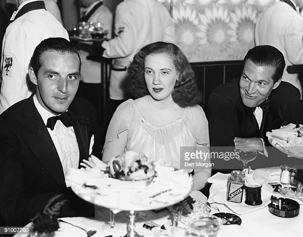 Harry Smith Elaine Frueauff and Peter Arno at The Stork Club in New York City in 1939