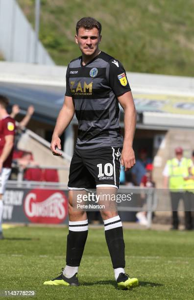 Harry Smith of Macclesfield Town in action during the Sky Bet League Two match between Northampton Town and Macclesfield Town at PTS Academy Stadium...