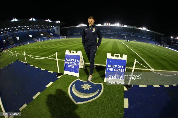 Harry Smith of Northampton Town walks from the pitch prior to the Leasingcom Trophy match between Portsmouth and Northampton Town at Fratton Park on...