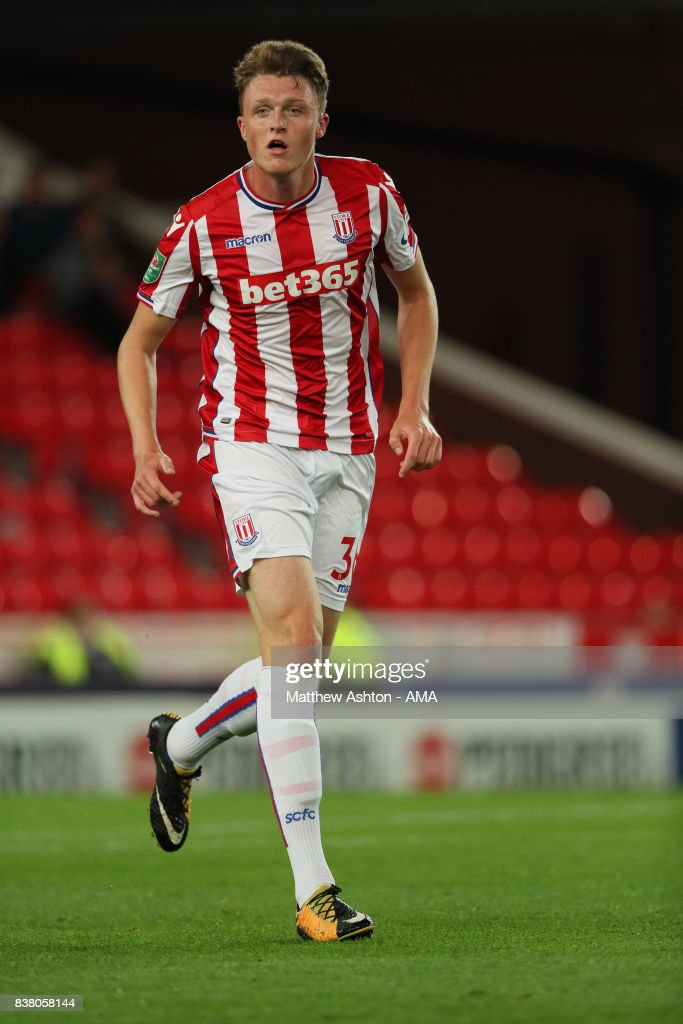 Harry Souttar of Stoke City during the Carabao Cup Second Round match between Stoke City and Rochdale at Bet365 Stadium on August 23, 2017 in Stoke on Trent, England.