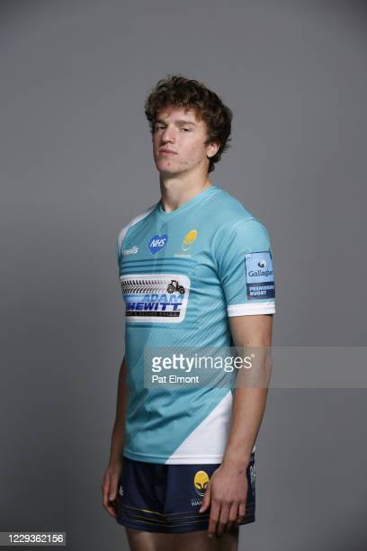Harry Spencer poses for a portrait during the Worcester Warriors squad photo call for the 202021 Gallagher Premiership Rugby season on on October 28...