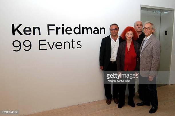 Harry Stendhal, Jeanne-Claude, guest and Christo attend In Memoriam: Jeanne-Claude Denat de Guillebon 1935 ñ 2009 at Steven Kasher Gallery on...