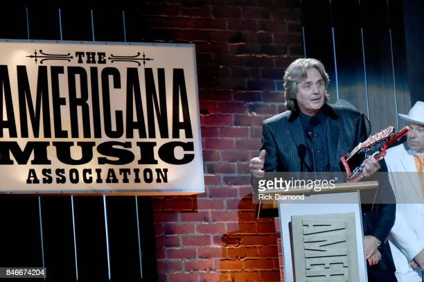 Harry Stinson speaks onstage during the 2017 Americana Music Association Honors Awards on September 13 2017 in Nashville Tennessee