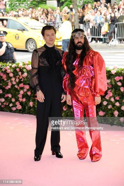 Harry Styles and Alessandro Michele attend The 2019 Met Gala Celebrating Camp Notes On Fashion Arrivalsat The Metropolitan Museum of Art on May 6...