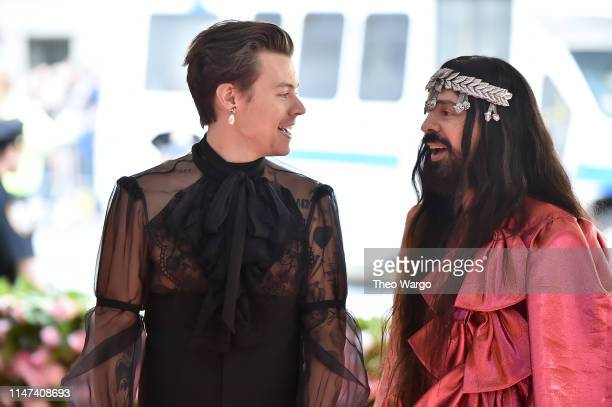 Harry Styles and Alessandro Michele attend The 2019 Met Gala Celebrating Camp Notes on Fashion at Metropolitan Museum of Art on May 06 2019 in New...