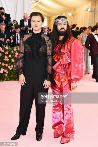 Harry Styles and Alessandro Michele attend The 2019 Met Gala Celebrating Camp: Notes on Fashion at Metropolitan Museum of Art on May 06, 2019 in New...
