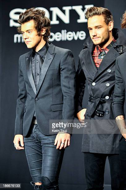Harry Styles and Liam Payne of One Direction meet Japanese fans to promote 'The 1Derland THIS IS US' on November 3 2013 in Chiba Japan