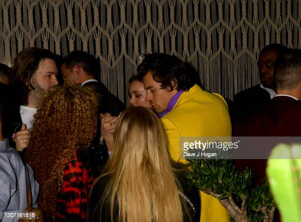 Harry Styles and Lily-Rose Depp attend the Sony BRITs after-party at The Standard on February 18, 2020 in London, England.