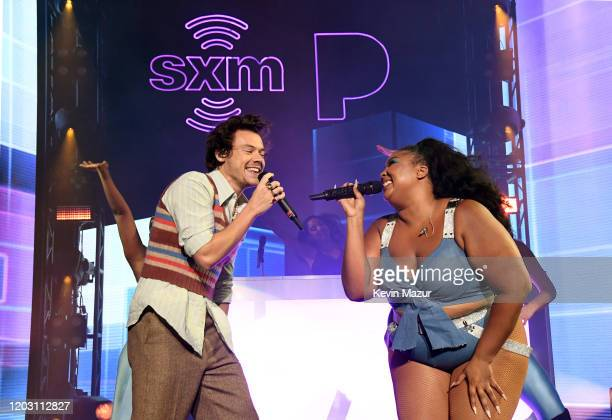 Harry Styles and Lizzo perform an exclusive concert for the SiriusXM and Pandora Opening Drive Super Concert Series airing live on SiriusXM's The...