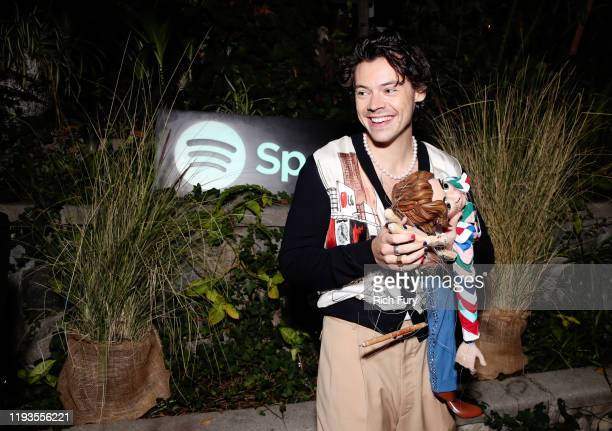 Harry Styles attends Spotify Celebrates The Launch of Harry Styles' New Album With Private Listening Session For Fans on December 11, 2019 in Los...