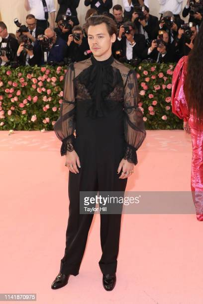 Harry Styles attends the 2019 Met Gala celebrating Camp Notes on Fashion at The Metropolitan Museum of Art on May 6 2019 in New York City