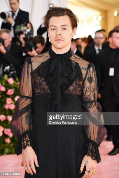 Harry Styles attends The 2019 Met Gala Celebrating Camp Notes on Fashion at Metropolitan Museum of Art on May 06 2019 in New York City