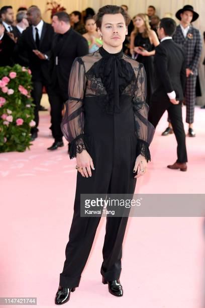 Harry Styles attends The 2019 Met Gala Celebrating Camp: Notes On Fashion at The Metropolitan Museum of Art on May 06, 2019 in New York City.